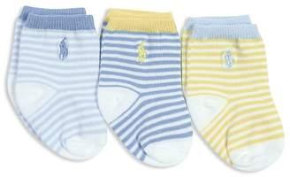Ralph Lauren Boys' St. James Striped Socks, 3 Pack - Baby