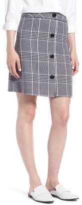 1901 Button Front Plaid Skirt (Regular & Petite)
