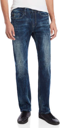 Buffalo David Bitton Blue Six-X Straight Stretch Jeans