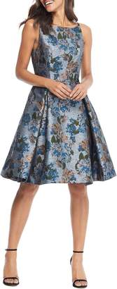Gal Meets Glam Darryn Floral Brocade Fit & Flare Dress