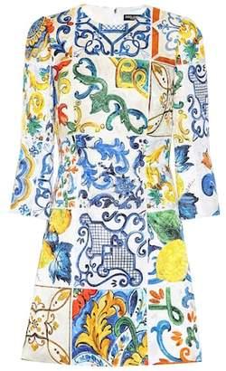 Dolce & Gabbana Majolica-printed jacquard minidress