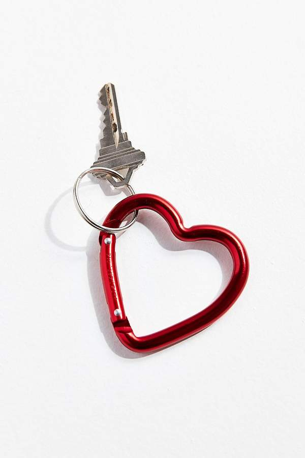 Bison Designs Mini Heart Carabiner Clip Keychain