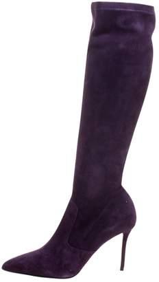 Le Silla Purple Velvet Boots