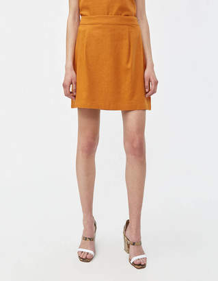 Shein Need Skirt in Rust Linen