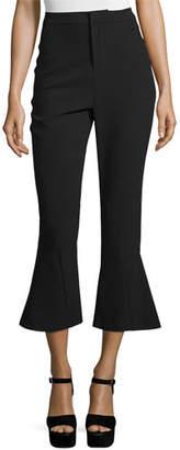 n/nicholas High-Waist Cropped Flare Pants $375 thestylecure.com