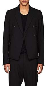 Rick Owens Men's Stretch-Wool Double-Breasted Sportcoat-Black