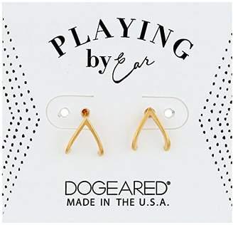 Dogeared Pe V Huggie Earrings
