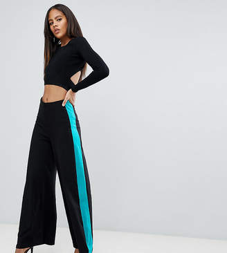 Asos (エイソス) - Asos Tall ASOS DESIGN Tall Wide Leg Pants With Contrast Side Stripe