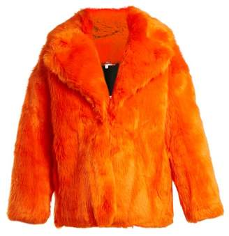 Diane von Furstenberg Oversized Faux Fur Jacket - Womens - Orange