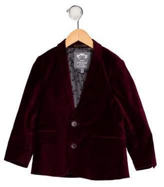 Appaman Fine Tailoring Boys' Velvet Peak-Lapel Blazer