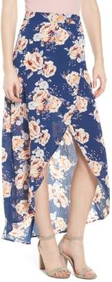 Mimichica Mimi Chica Floral Print Maxi Skirt