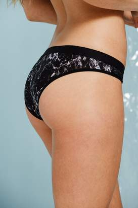 Negative Underwear Silky Brief in Black Marble