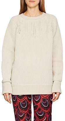 Maison Margiela Women's Slit-Detailed Wool Sweater