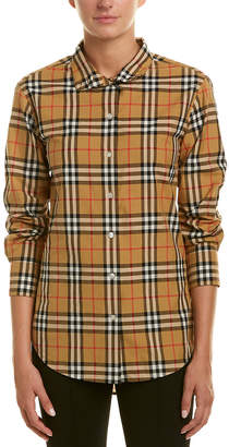 Burberry Stand-Collar Vintage Check Shirt