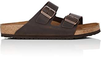 Birkenstock Men's Arizona Oiled Leather Double-Buckle Sandals