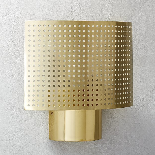 CB2Perforated Wall Sconce