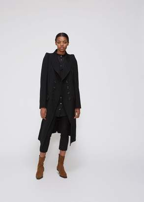 Ann Demeulemeester Double Breasted Pleat Back Coat