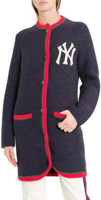 Gucci Long Cardigan With Ny Yankees Patches