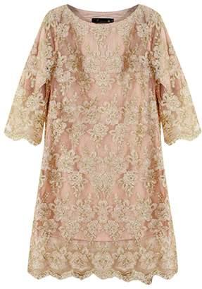 Ez-sofei Women's Vintage 3/4 Sleeve Lace Embroidery Pencil Dresses