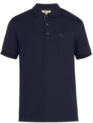 Burberry Oxford Cotton Pique Polo Shirt - Mens - Navy