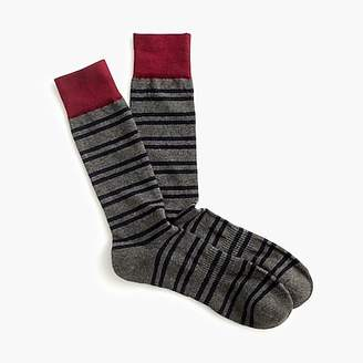 J.Crew Double striped padded footbed socks