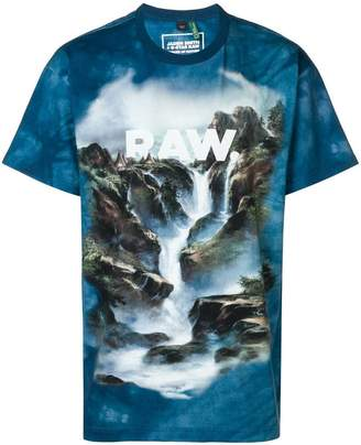 G Star Research Cyber water printed T-shirt