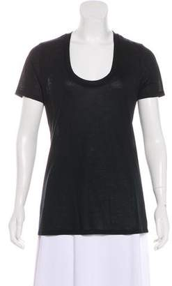 L'Agence Short Sleeve Jersey Top