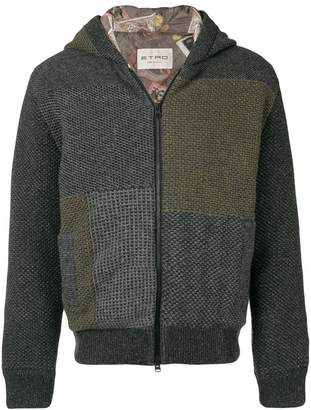 Etro patchwork hooded jacket