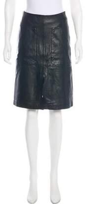 Paul Smith Leather Knee-Length Skirt