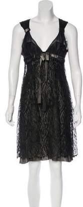 Nina Ricci Empire Lace Dress