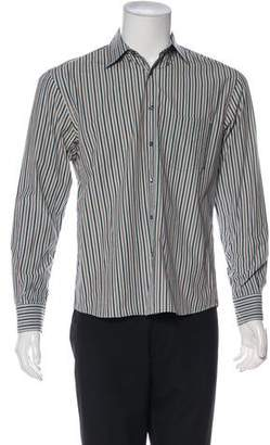 Umit Benan Striped Woven Shirt