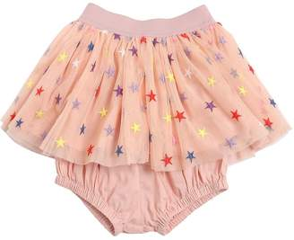 Stella McCartney Embroidered Stars Tulle Skirt W/ Diaper