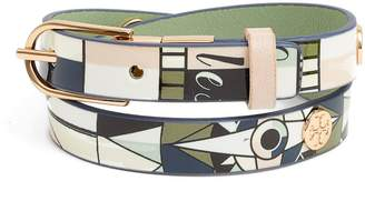 Tory Burch Constellation Reversible Leather Double Wrap Bracelet
