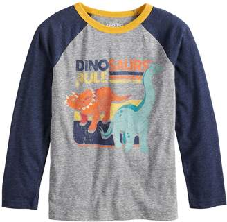 Boys 4-12 Jumping Beans Retro Dinosaurs Raglan Graphic Tee