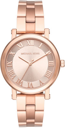 Michael Kors Women's Norie Rose Gold-Tone Stainless Steel Bracelet Watch 38mm MK3561 $225 thestylecure.com