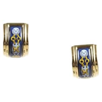 Hermes Boucles d'oreilles Email Gold Metal Earrings