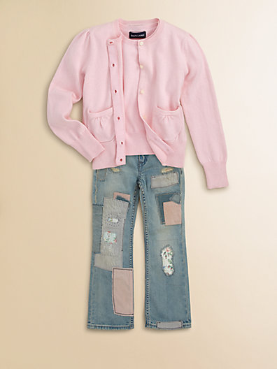 Ralph Lauren Toddler's & Little Girl's Bootcut Patchwork Jeans