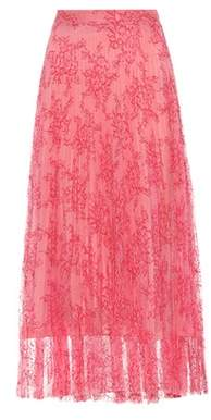 Burberry Pleated lace midi skirt