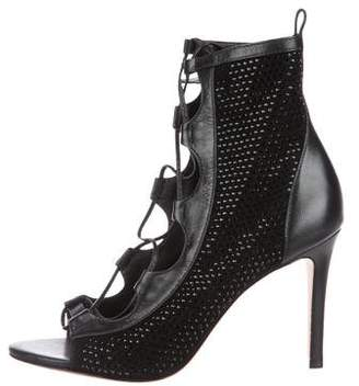 Isa Tapia Embellished Caged Sandals