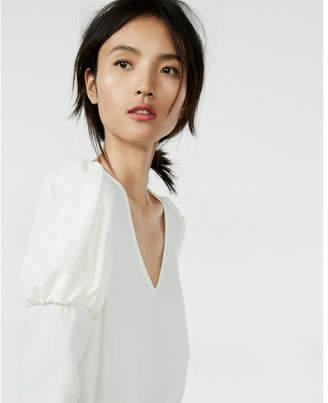 Express juliet sleeve v-neck blouse