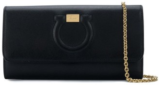 Salvatore Ferragamo embossed Gancio clutch