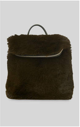 Whistles Faux Fur Mini Verity Backpack