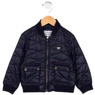 Armani Junior Boys' Quilted Bomber Jacket