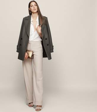 Reiss Carla Wool-Blend Wide-Leg Trousers