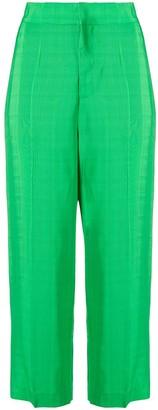 Cavallini Erika cropped high-waisted trousers