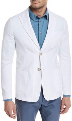 Giorgio Armani Pique Three-Pocket Sport Coat