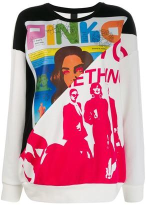 Pinko contrast panel sweatshirt