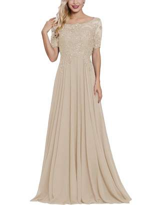 1be59097599 Lover Kiss Mother of The Bride Groom Dresses with Short Sleeves Long Maxi  Formal Evening Party