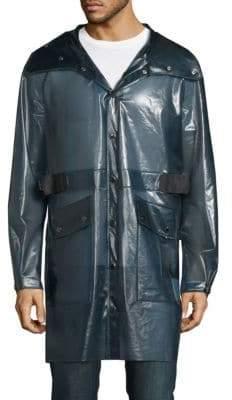 Hooded Long-Sleeve Raincoat