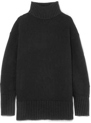 Proenza Schouler Wool And Cashmere-blend Turtleneck Sweater - Black